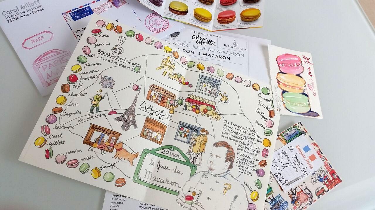 Jour du macaron day paris map