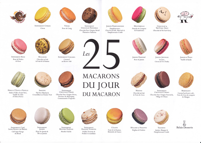 Choice of macarons Pierre Herme for Paris Macaron Day 2016