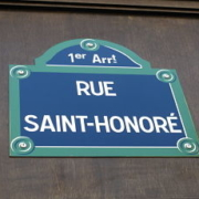 Rue Saint-Honore Paris