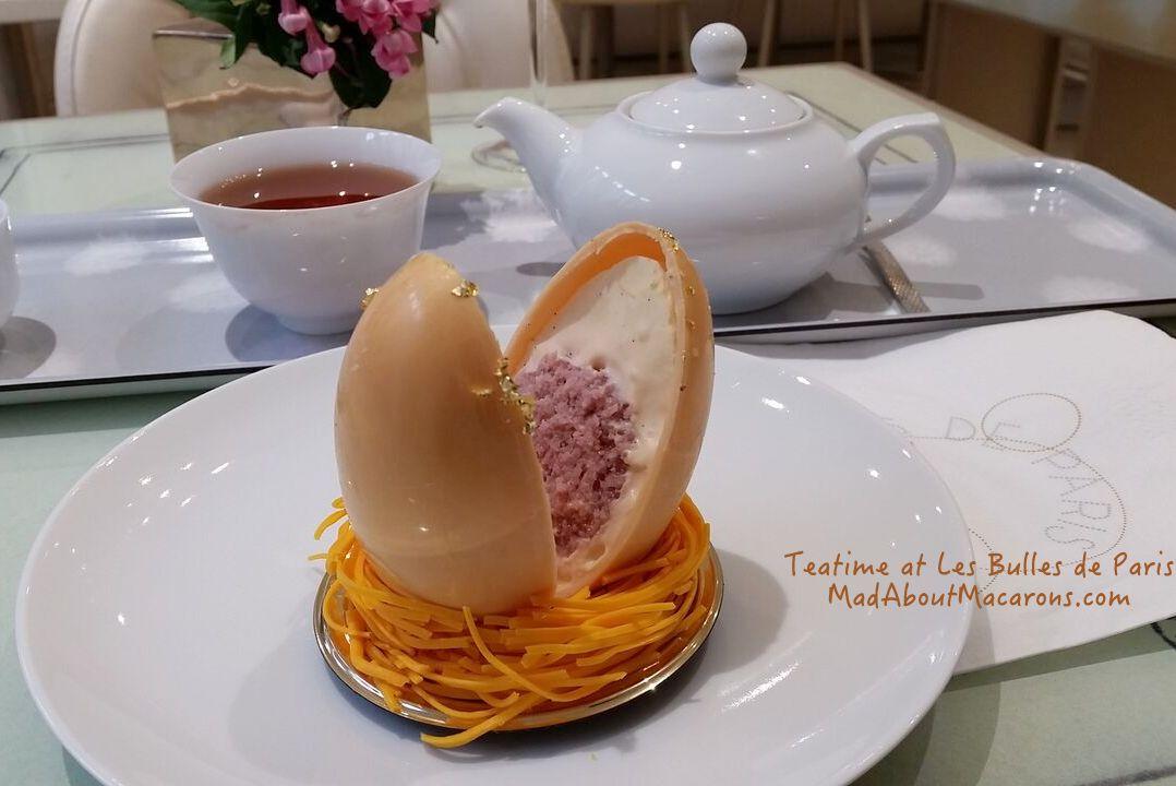 Easter egg patisserie bulles de paris teatime