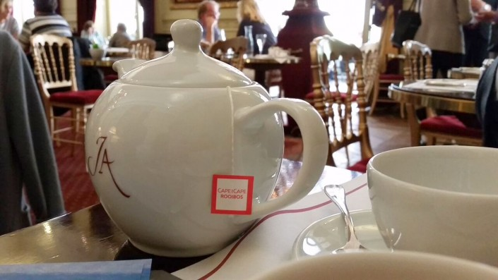 Tea at Jacquemart Andre museum cafe rooibos