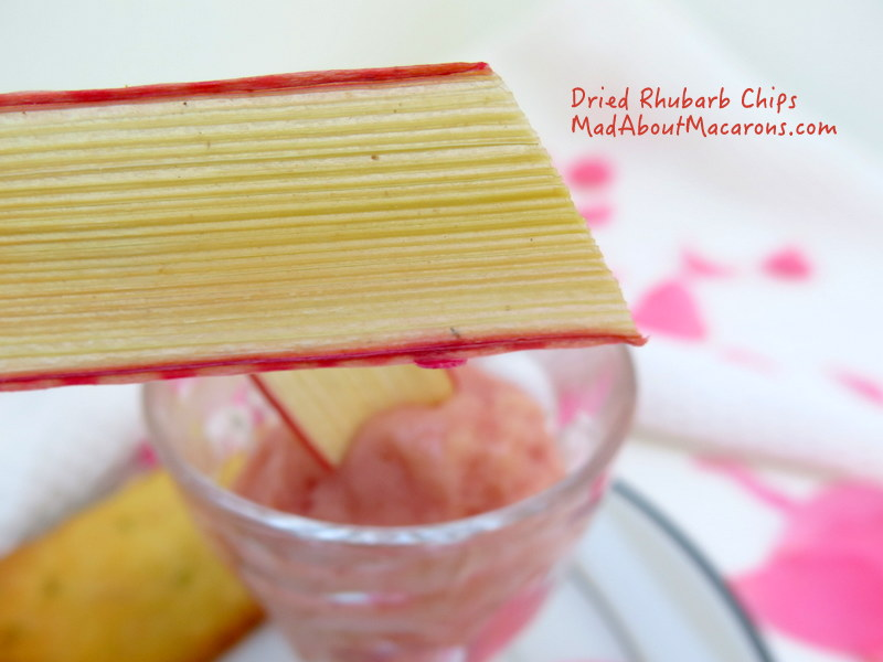 Rhubarb chips recipe