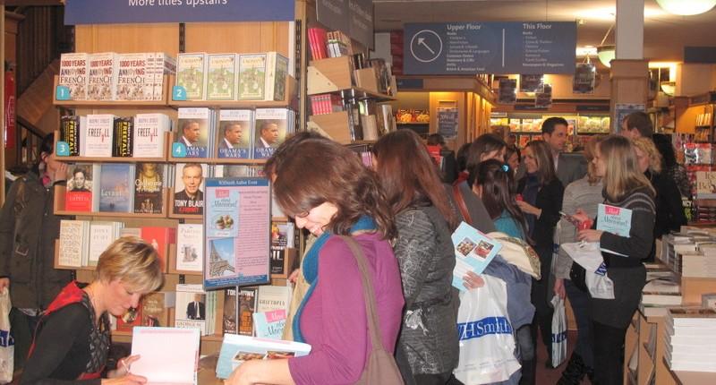 WHSmith Paris book signing event Jill Colonna