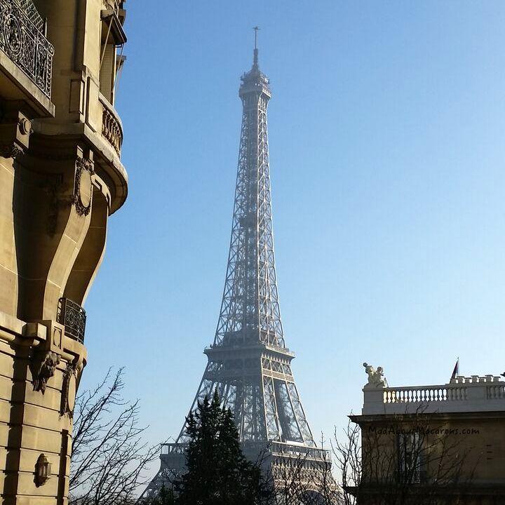 Eiffel Tower Paris Avenue Camoens near Trocadero