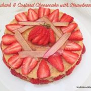 rhubarb custard cheesecake