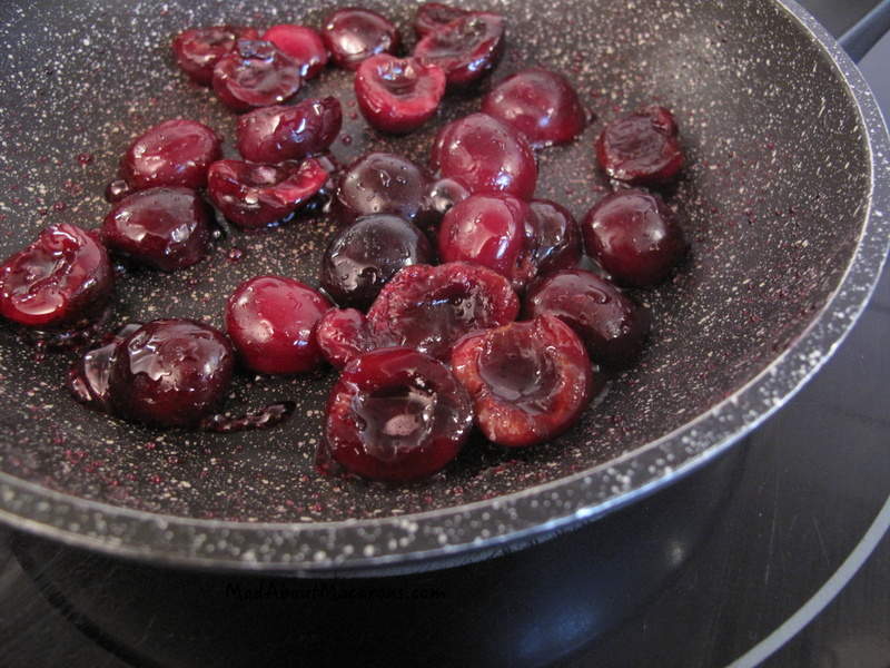 frying cherries in butter