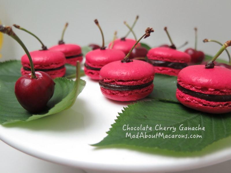 cherry chocolate ganache filling for macarons