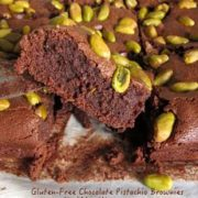 chocolate pistachio brownies gluten free