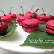 Cherry Chocolate Ganache for macarons