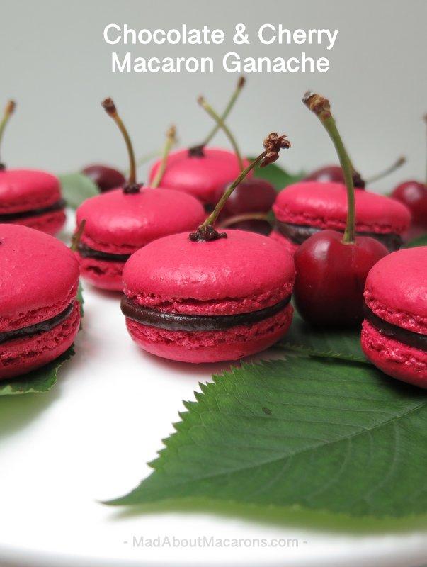 Chocolate cherry ganache macaron filling