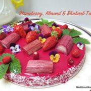 strawberry almond rhubarb tart