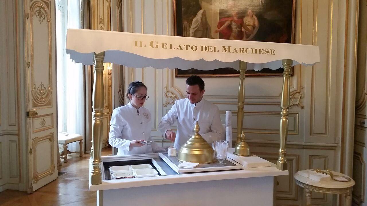 Italian ice cream Embassy Paris