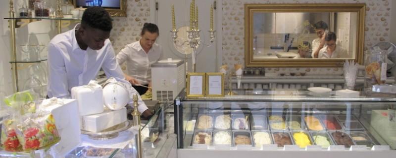 luxury italian ice cream parlour Paris