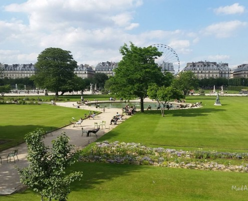 Tuileries Gardens Paris history and new cafe terrace