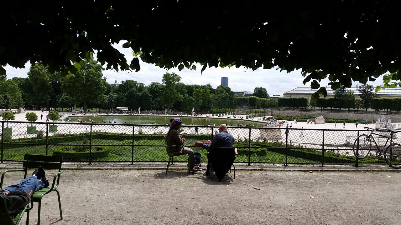 Tuileries gardens Paris Concorde Side