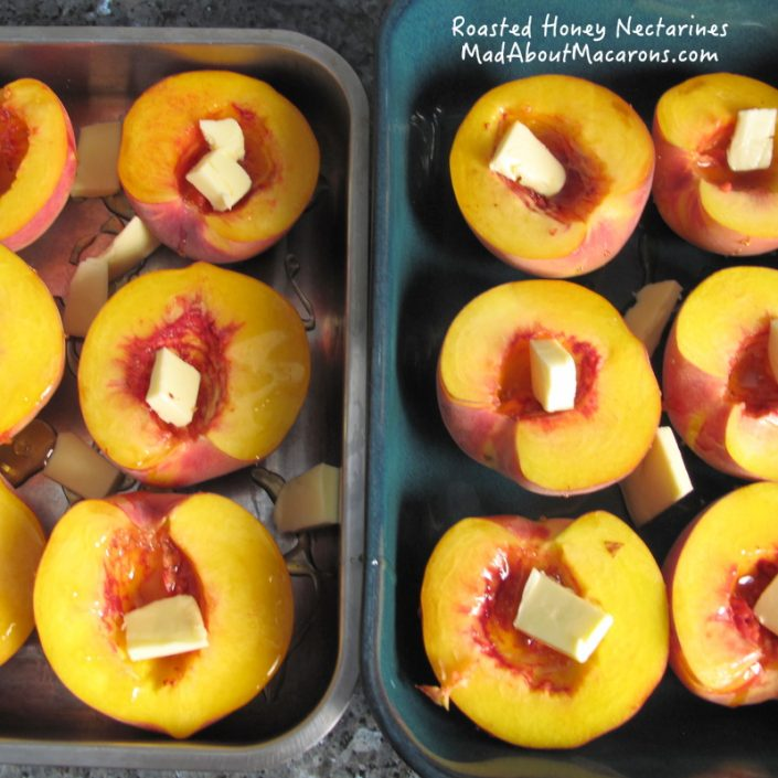 roasting nectarines in honey