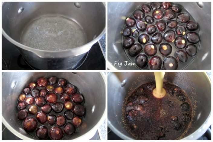 Method for making fig jam