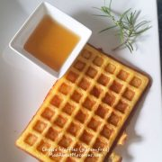 gluten free cheese rosemary waffles