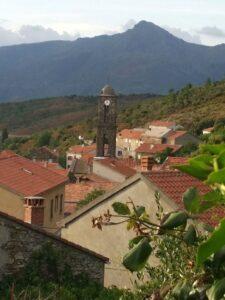 Corsican mountain village