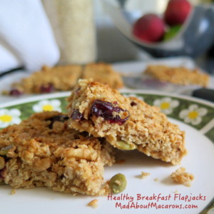 healthy breakfast flapjacks