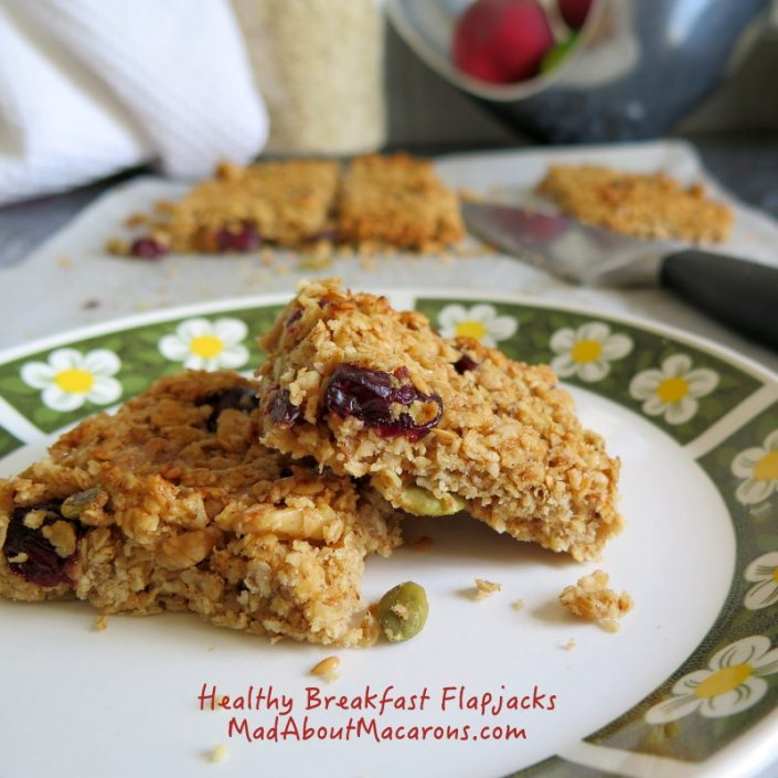 healthy breakfast granola flapjacks