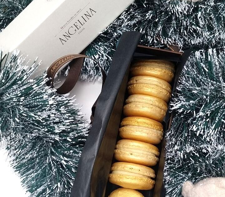 angelina vanilla christmas macarons