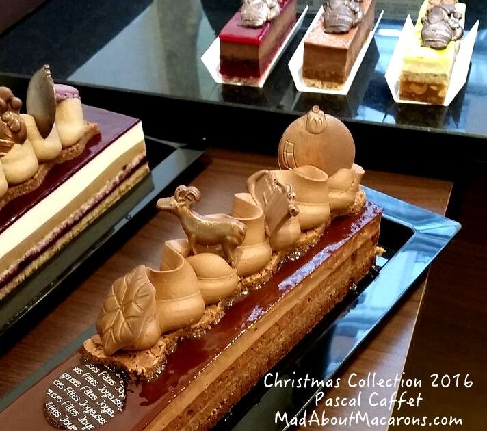 Pascal Caffet's new festive pastry collection: buches de noel