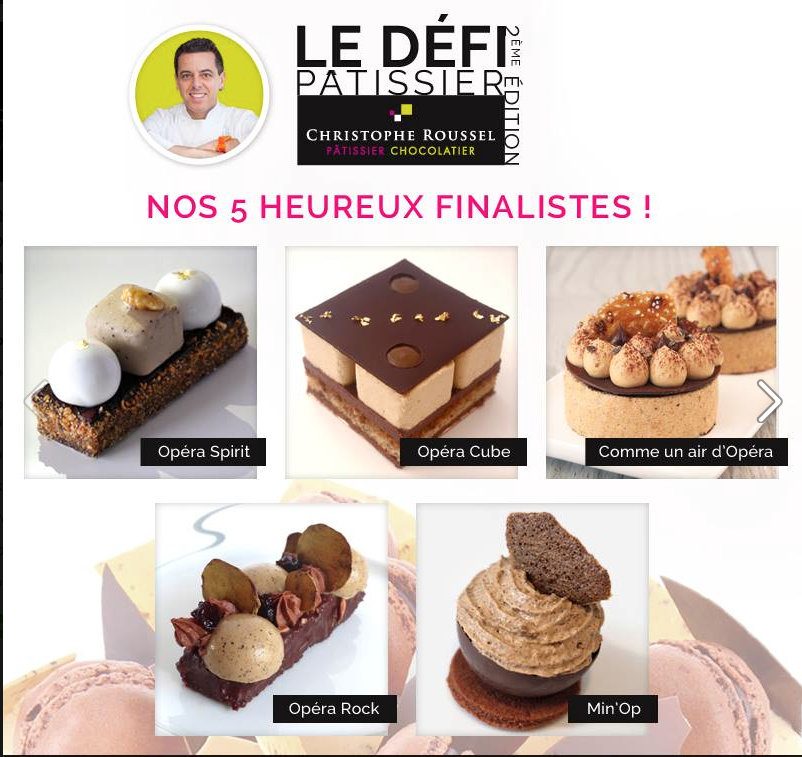 The finalists - christophe Roussel pastry competition