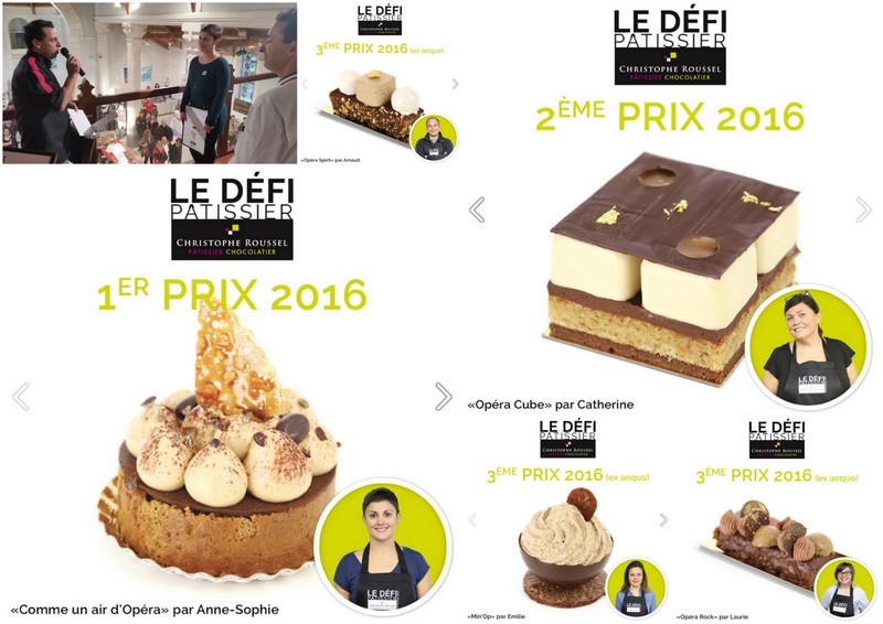 Christophe Roussel Pastry Competition winners