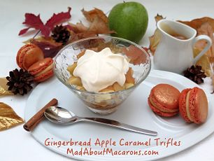 Gingerbread apple caramel trifles