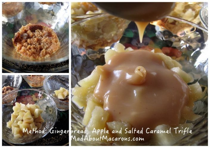 method for gingerbread apple caramel trifle