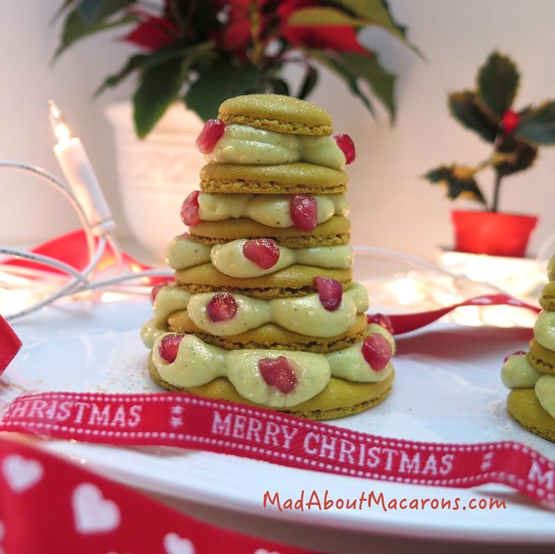Merry christmas macaron tree