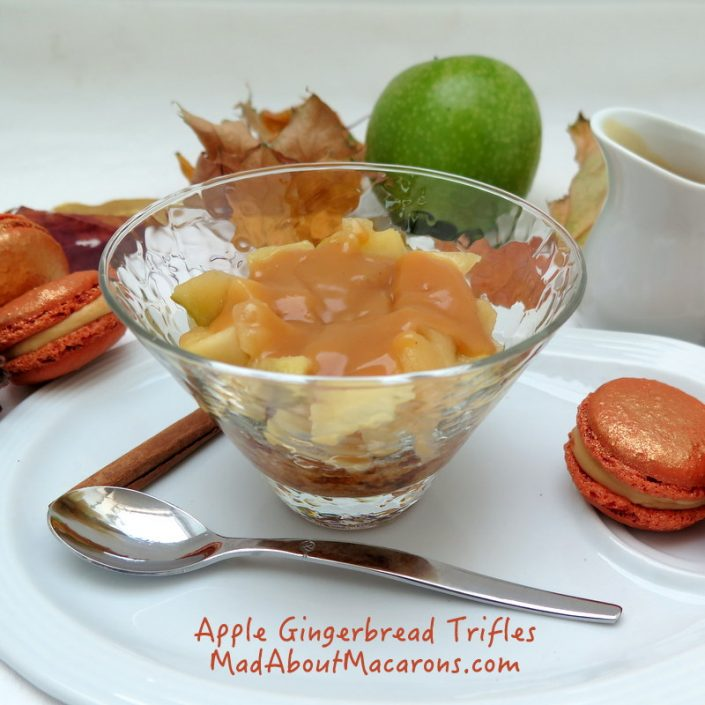 gingerbread apple caramel trifle without cream