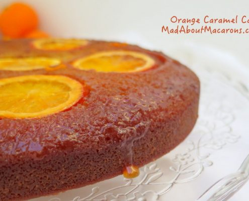 sticky orange caramel cake