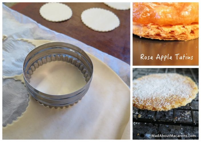 Prepare the crispy puff pastry bases