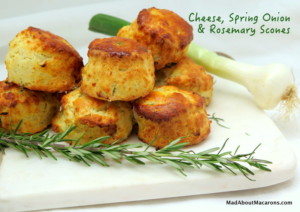 cheese spring onion and rosemary scones