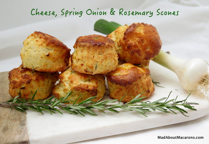 cheese spring onion rosemary scones