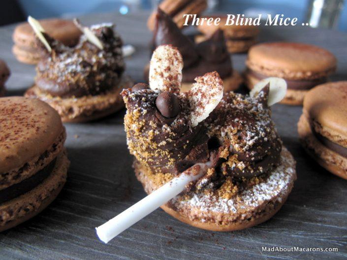 chocolate macaron mice