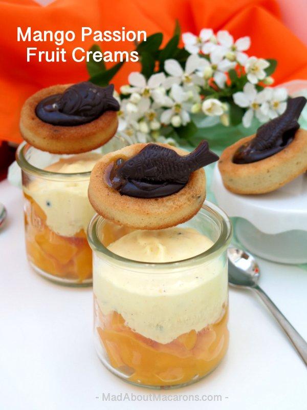 Mango Passion Creams #desserts #desserttable #mangodesserts