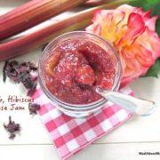 rhubarb rose hibiscus jam