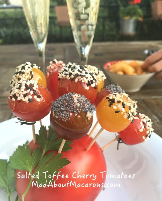 salted toffee cherry tomatoes French aperitif