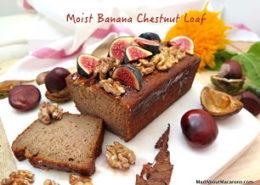 moist banana chestnut loaf