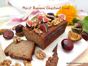 moist banana chestnut loaf
