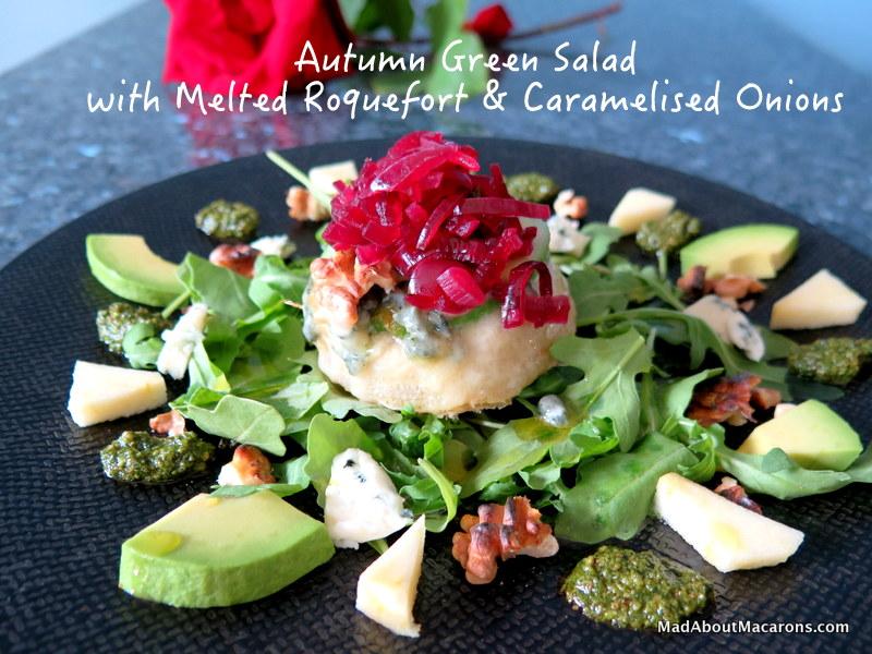 Baked Roquefort Green Salad