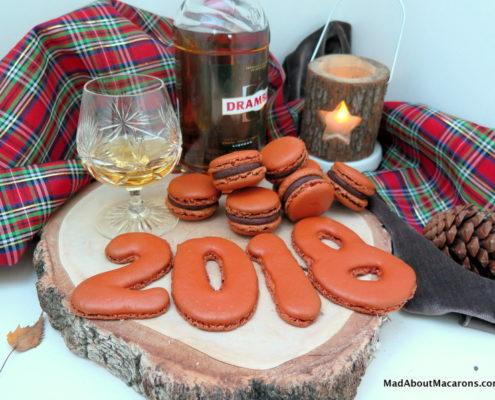chocolate whisky macarons