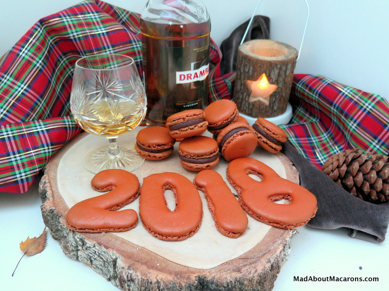 chocolate whisky macarons