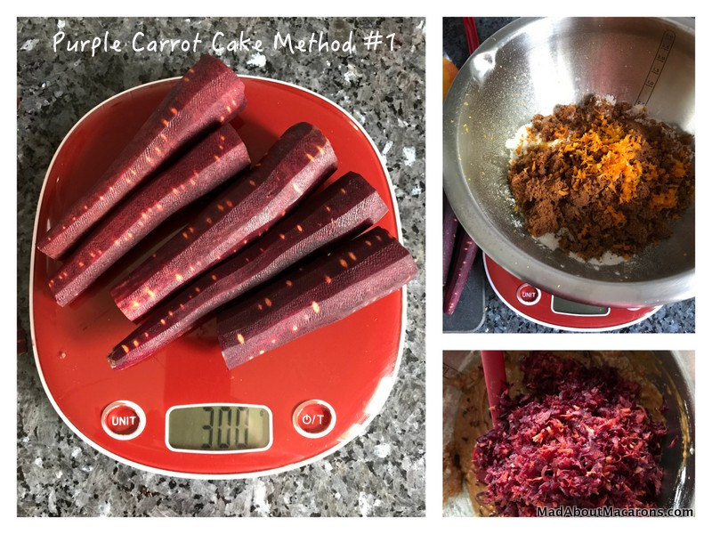 Purple Carrot Cake method