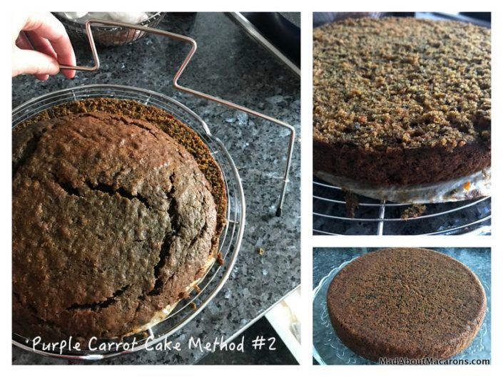 Purple Carrot Cake Method 1