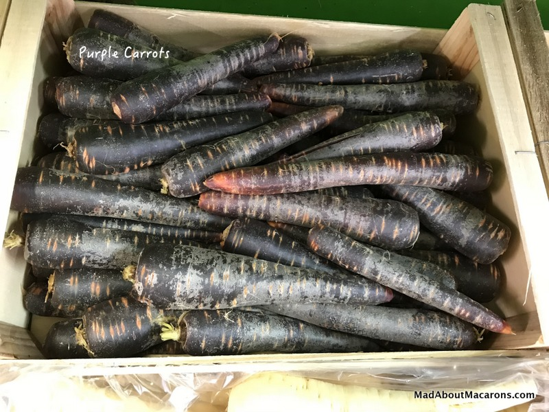 Purple carrots at the organic market