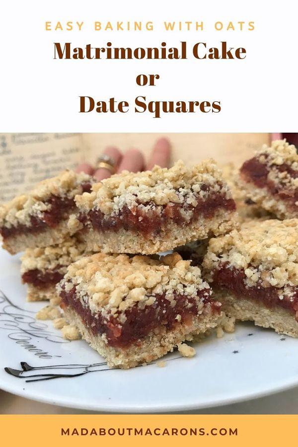 Matrimonial Cake Date Squares